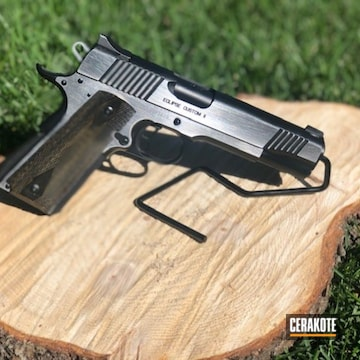 Kimber Eclipse 1911 Pistol Cerakoted Using Armor Black