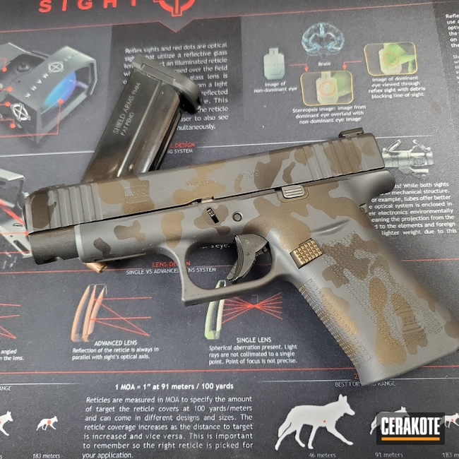 Cerakoted: Glock 48,S.H.O.T,Sniper Grey H-234,Graphite Black H-146,Glock,Midnight Bronze H-294
