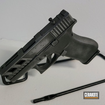 Distressed Glock 43x Cerakoted Using Shimmer Aluminum And Tungsten