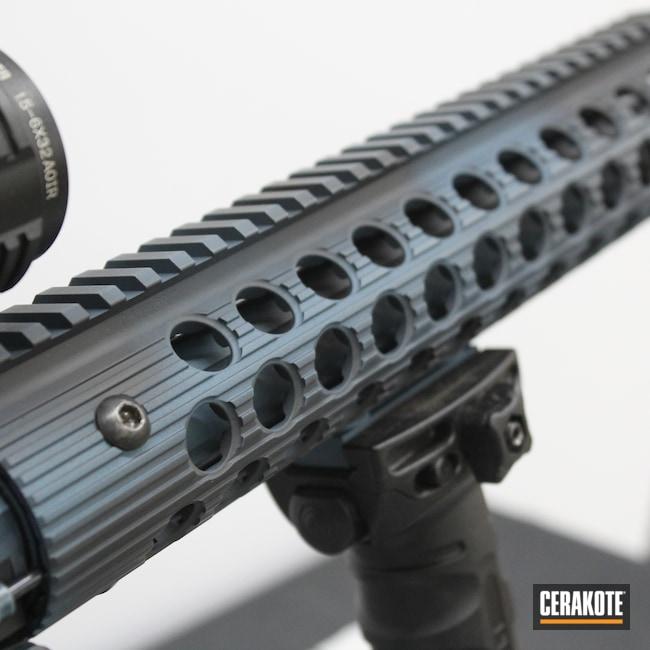 Cerakoted: S.H.O.T,Rifle,Battle Rifle,.223,msr,Black Rain Ordnance,AR Build,Battleworn,Graphite Black H-146,AR,.223 Wylde,Black Rain,Blue Titanium H-185