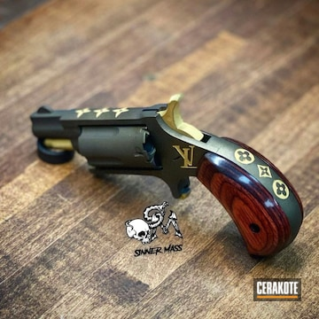 Louis Vuitton Revolver Cerakoted Using Midnight Bronze And Gold