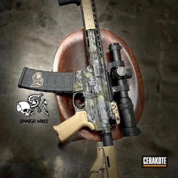 Custom Camo Ar Build Cerakoted Using Noveske Bazooka Green, Sniper Grey And Graphite Black