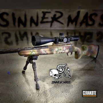 Kryptek Camo Tikka Rifle Cerakoted Using Noveske Bazooka Green, Multicam® Dark Brown And Mcmillan® Tan