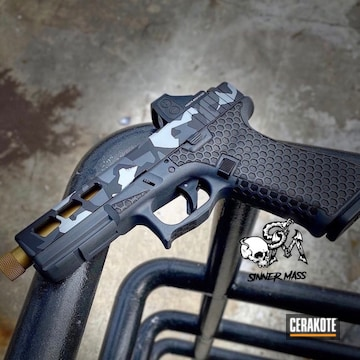 Custom Camo Glock Cerakoted Using Noveske Tiger Eye Brown, Sniper Grey And Battleship Grey