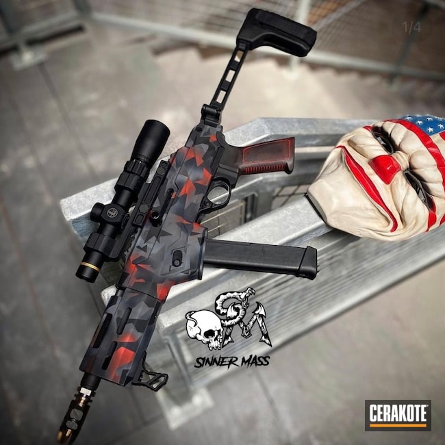 Cerakoted: S.H.O.T,Ruger,AR-15 Pistol,USMC Red H-167,Urban Camo,9mm,Sniper Grey H-234,AR Pistol,Ruger Precision,MultiCam,Geometric,Graphite Black H-146,PC Carbine,Pistol Caliber Carbine,Geometric Camo,Urban Multicam,Charger,AR-15,PCC
