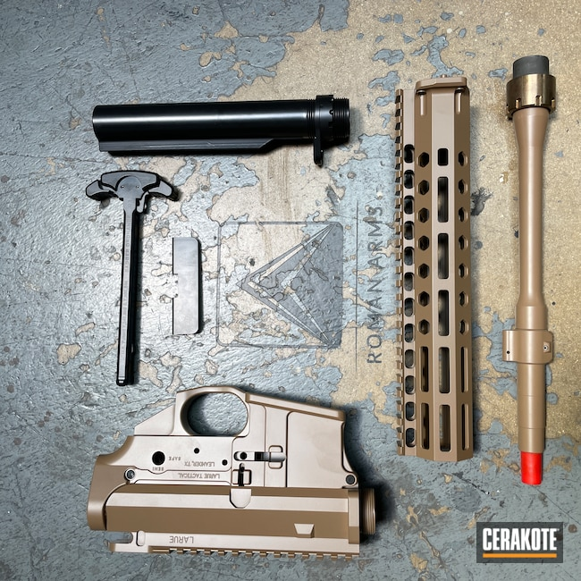 Cerakoted: S.H.O.T,Rifle,Upper / Lower,20150 E-190,20150 Coyote C-190,BLACKOUT E-100,Barrel,Upper / Lower / Handguard,Badger Ordnance,AR-15