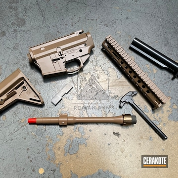 Ar-15 Cerakoted Using 20150 Coyote, 20150 And Blackout