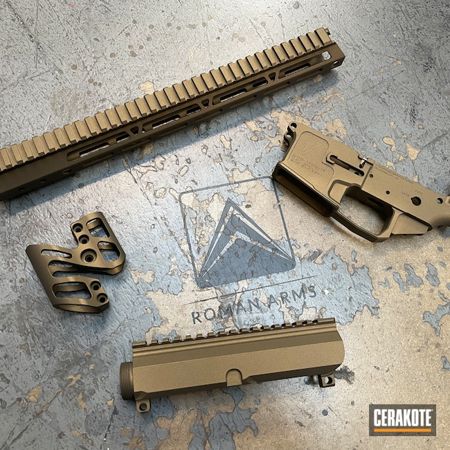 Cerakoted: S.H.O.T,Rifle,Upper / Lower,Upper / Lower / Handguard,Burnt Bronze H-148,17 Design and Manufacturing,AR-15