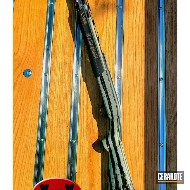 Cerakoted: S.H.O.T,Winchester,Shotgun,Winchester Super X Shotgun,Graphite Black H-146,American Flag,Bright Nickel H-157,sx3