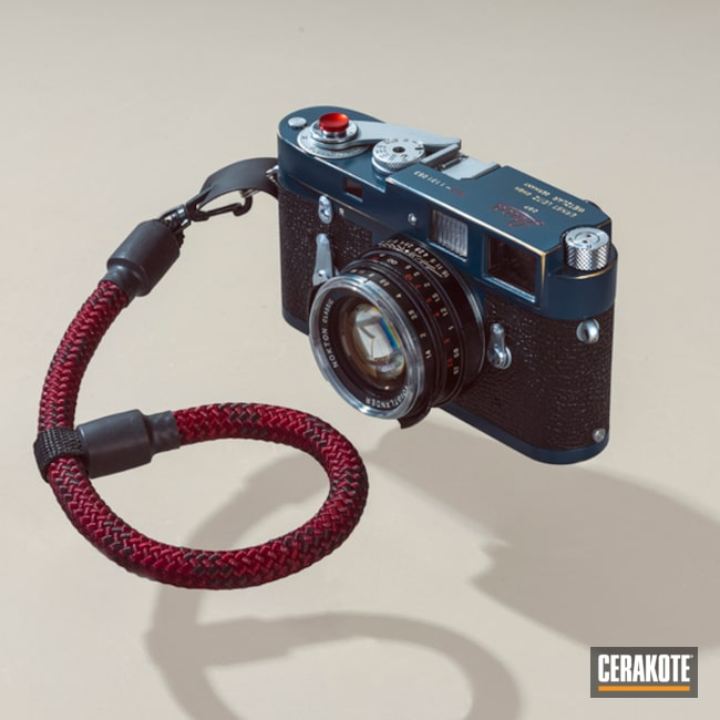 Leica M2 Cerakoted Using Ridgeway Blue, Armor Black And Corvette Yellow