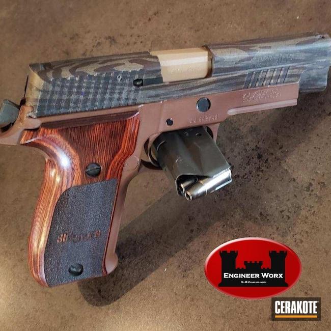 Cerakoted: S.H.O.T,Graphite Black H-146,Pistol,Sig Sauer,ROSE GOLD H-327,Gold H-122