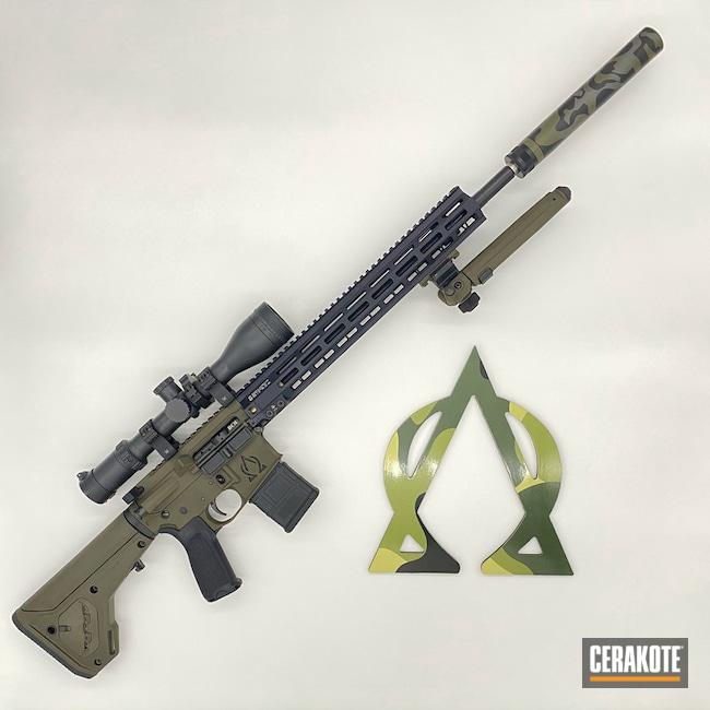 Ar Build Cerakoted Using Graphite Black, Sniper Grey And O.d. Green