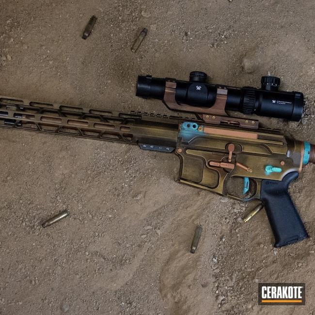 Cerakoted: S.H.O.T,COPPER H-347,Bronze,Distressed,HIGH GLOSS CERAMIC CLEAR MC-160,Copper Patina,Firearm,Vintage,AR Build,It's A Boy H-356,Gold H-122