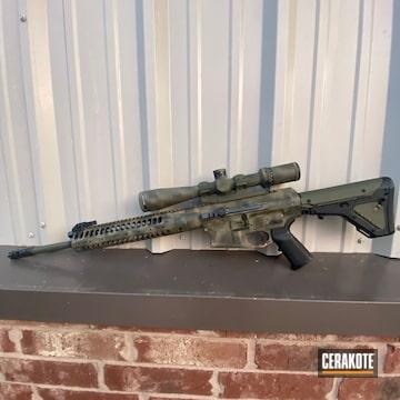 Custom Camo Ar Cerakoted Using Noveske Bazooka Green, Mud Brown And Sniper Green