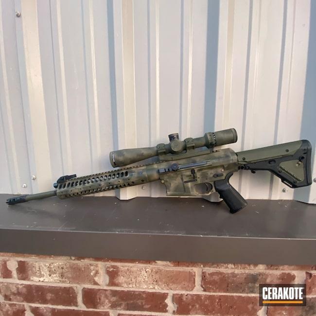 Cerakoted: S.H.O.T,Freehand Camo,Noveske Bazooka Green H-189,Shadow Camo,.308,LWRC,Custom Rifle,Mud Brown H-225,Sniper Green H-229,Graphite Black H-146,AR-10,Camouflage,AR Rifle,Custom AR