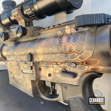Kryptek Camo Ar Cerakoted Using Glock® Fde, Graphite Black And Copper