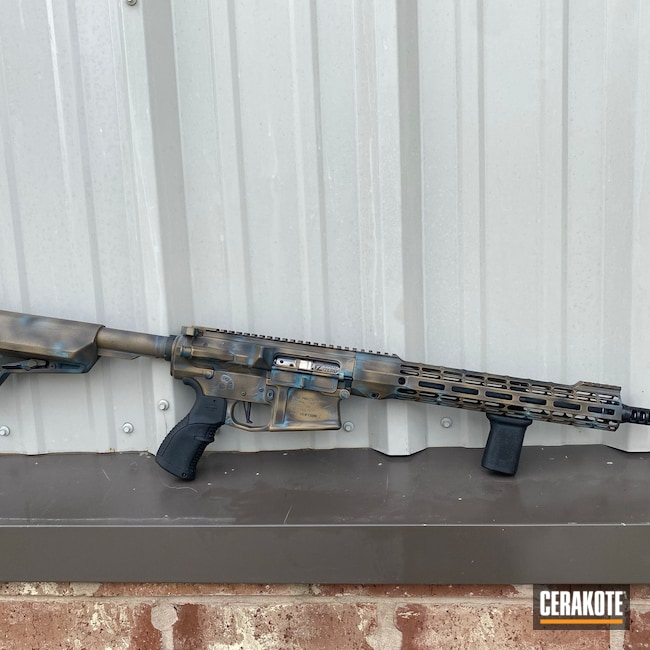 Cerakoted: S.H.O.T,Aero Precision,Custom Rifle,Robin's Egg Blue H-175,Graphite Black H-146,Custom Gun,Bronze Patina,Midnight Bronze H-294,Patina
