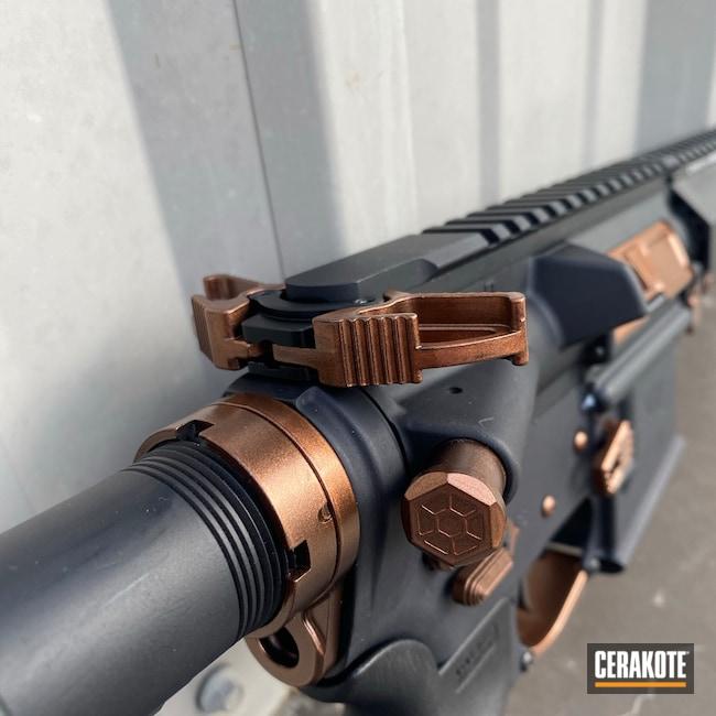 Cerakoted: S.H.O.T,Custom Mix,Graphite Black H-146,AR,Custom Gun,Custom Copper,Custom AR,AR-15,Well Armed Woman