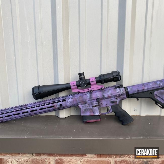 Cerakoted: S.H.O.T,Aero Precision,Kryptek,Bright Purple H-217,Wild Purple H-197,PURPLEXED H-332,CRUSHED ORCHID H-314,Purple,Custom AR,AR-15,Well Armed Woman