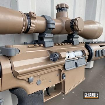 Custom Ar Cerakoted Using Concrete And M17 Coyote Tan