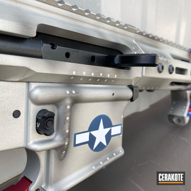 Cerakoted: S.H.O.T,Bright White H-140,AR Pistol,Rivets,Stag Arms,NRA Blue H-171,Warplane,RUBY RED H-306,Titanium H-170,Air Corps,Custom AR,Custom Build