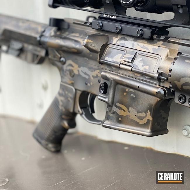 Cerakoted: S.H.O.T,Burnt Bronze H-148,Camo,Camouflage,Midnight Bronze H-294,DPMS,AR-15,Metallic Camo