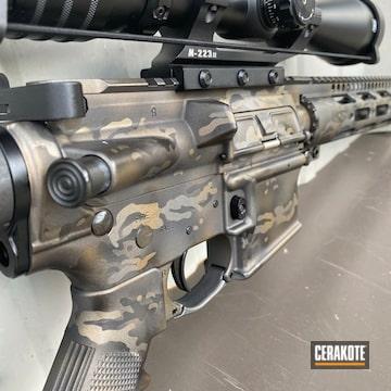 Custom Camo Ar-15 Cerakoted Using Midnight Bronze And Burnt Bronze