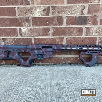 Custom Ar Cerakoted Using Sniper Grey And Graphite Black