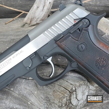 Taurus Pt92 Afs Pistol Cerakoted Using Armor Black, High Gloss Armor Clear And Graphite Black