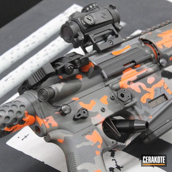 Cerakoted: SIG™ DARK GREY H-210,AR Parts,Stone Grey H-262,Custom,AR Project,AR Upper,AR Rifle,Custom AR,AR-15,S.H.O.T,Silencer,AR Barrel,Armor Black H-190,.223,Bull Shark Grey H-214,1776,80%,Custom Camo,5.56,AR Build,Multi Color,MultiCam,AR,Ar Rail,Hunter Orange H-128
