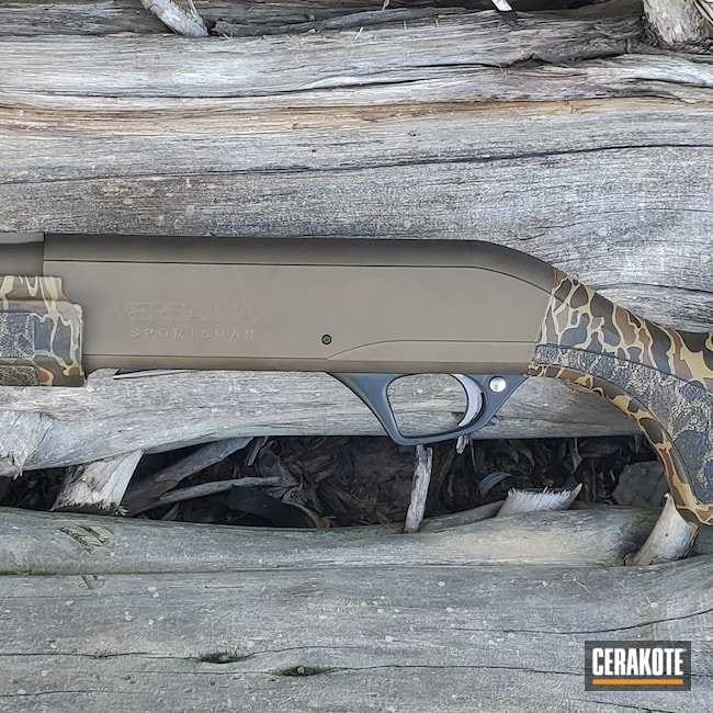 Cerakoted: S.H.O.T,Shotgun,Graphite Black H-146,MATTE CERAMIC CLEAR MC-161,12 Gauge,Remington,Versamax,Midnight Bronze H-294
