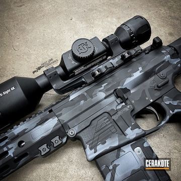 Custom Camo Ar Cerakoted Using Sniper Grey And Graphite Black