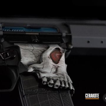 Ar Build Cerakoted Using Hidden White And Sniper Grey