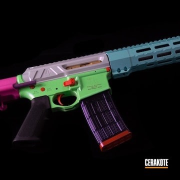Multi-color Ar Build Cerakoted Using Hidden White And Parakeet Green