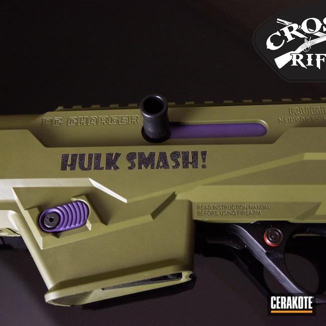 Cerakoted: S.H.O.T,Incredible Hulk,DC Comics,Ruger,Smash,Pistol Caliber Carbine,pc9,Noveske Bazooka Green H-189,PCC