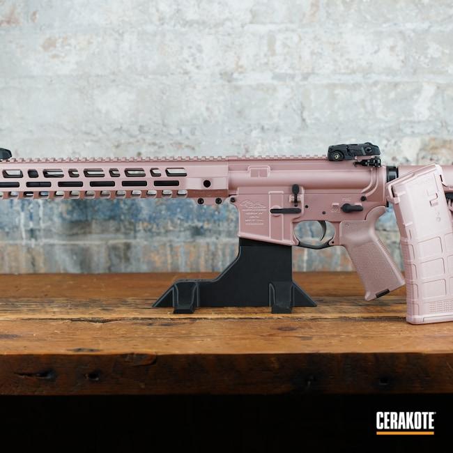 Cerakoted: S.H.O.T,AR,Firearms,ROSE GOLD H-327