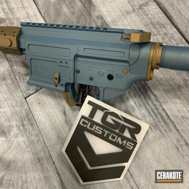 Cerakoted: S.H.O.T,9mm,Palmetto State,Burnt Bronze H-148,Blue Titanium H-185