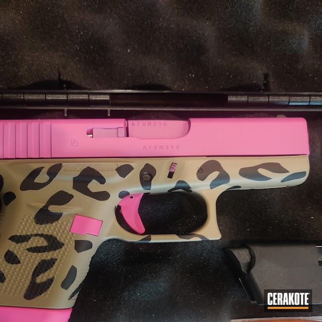 Cerakoted: S.H.O.T,9mm,Leopard Print,Prison Pink H-141,43x