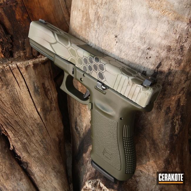 Cerakoted: S.H.O.T,Glock 21,Kryptek,MAGPUL® FLAT DARK EARTH H-267,Graphite Black H-146,BATTLESHIP GREY H-213,Pistol,Glock,Mil Spec Green H-264
