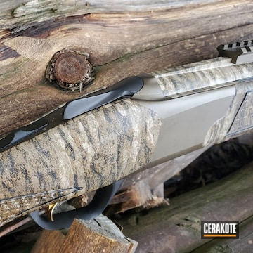 Browning Cynergy Shotgun Cerakoted Using Midnight Bronze, Matte Ceramic Clear And Graphite Black