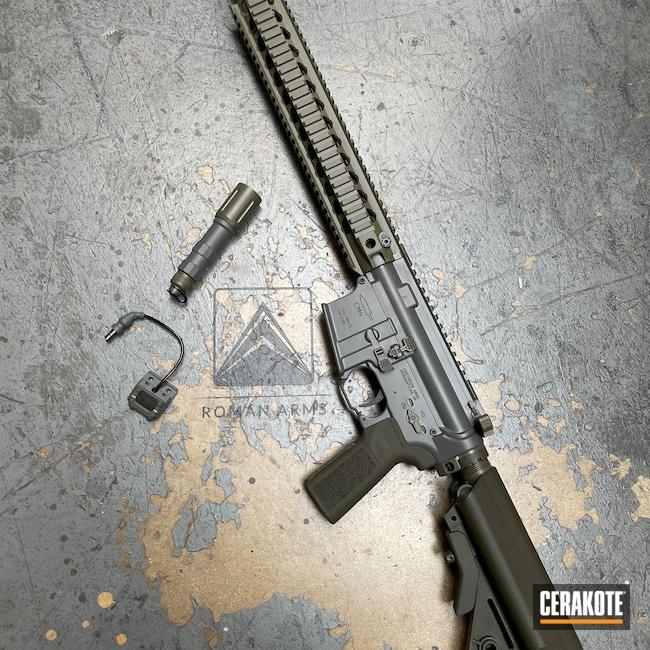 Cerakoted: S.H.O.T,Rifle,Mod Button,Forward Controls,Hodgeflauge,.223,Assault Weapon,Centurion Arms,Modlite,5.56,B5 Systems,Modern Sporting Rifle,Mix Match,MOSS E-210,Concrete E-160,ODGGang