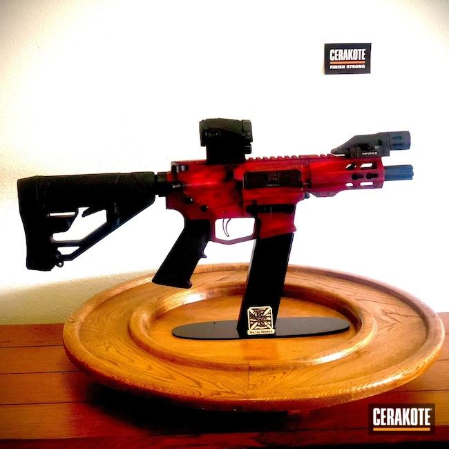 Cerakoted: S.H.O.T,9mm,Custom,MagPul,Graphite Black H-146,USMC Red H-167,Crimson H-221,Handguns,AR9