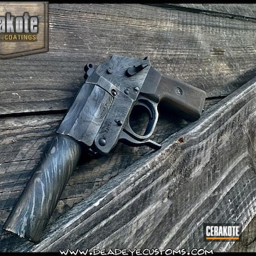 Pistol Cerakoted Using Satin Aluminum, Sniper Grey And Graphite Black