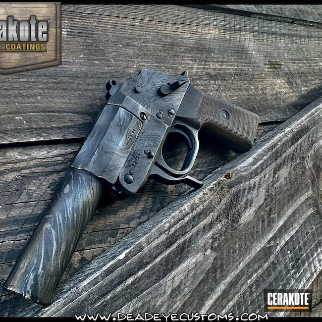Cerakoted: S.H.O.T,Sniper Grey H-234,Graphite Black H-146,Satin Aluminum H-151,Pistol,Cobalt H-112