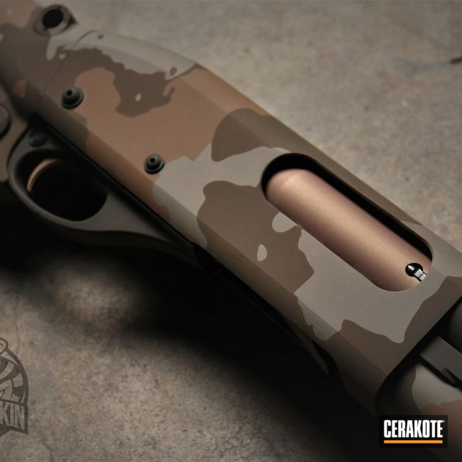 Cerakoted: S.H.O.T,COPPER H-347,Desert Sage H-247,Tactical Shotgun,MAGPUL® FLAT DARK EARTH H-267,Shotgun,TROY® COYOTE TAN H-268,NORTHERN LIGHTS H-315,Patriot Brown H-226,12 Gauge,870,Remington