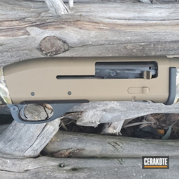 Remington Shotgun Cerakoted Using Matte Ceramic Clear, Graphite Black And Burnt Bronze
