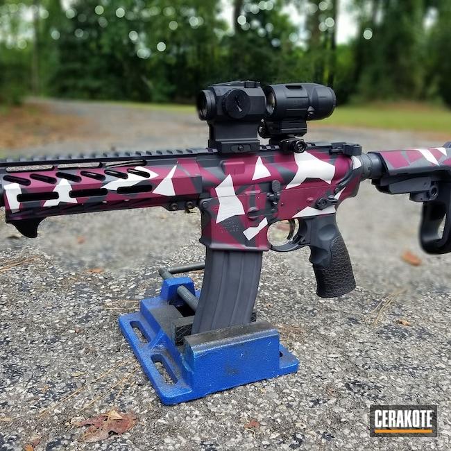 Cerakoted: S.H.O.T,Sniper Grey H-234,Urban Splinter Camo,Girls,swedish m90 splinter camo,BLACK CHERRY H-319,FROST H-312,Girls Gun,Splinter Camo,Custom Camo,AR-15