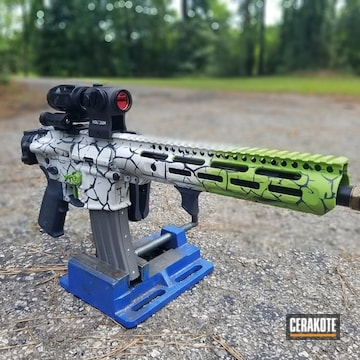 Ar-15 Cerakoted Using Frost, Zombie Green And Sniper Grey