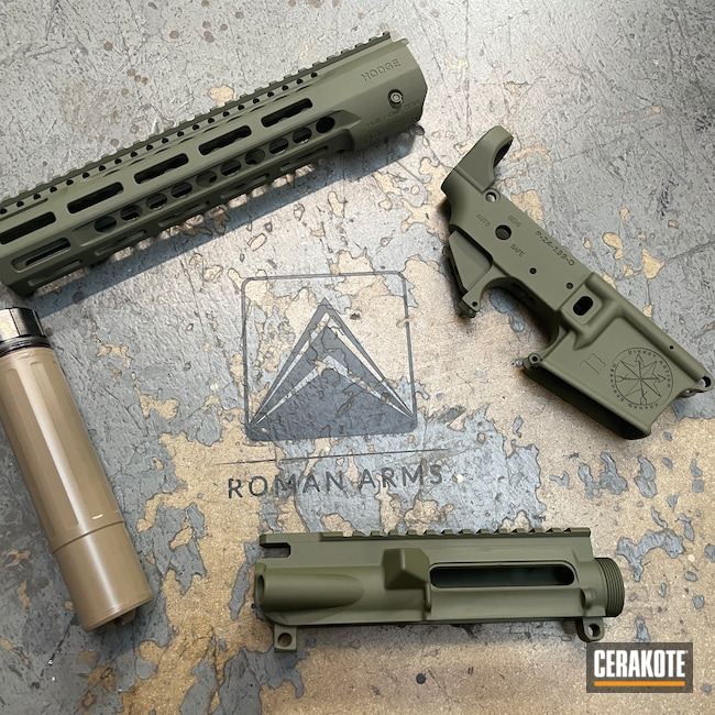 Cerakoted: Hodge Defense,S.H.O.T,Silencer,S-Lock,Dead Air,Sons of Liberty Gun Works,Can,Upper / Lower / Handguard,O.D. Green H-236,Suppressor,5.56,Direct Action Resource Center,Modern Sporting Rifle,AR,MAGPUL® FDE C-267,AR-15