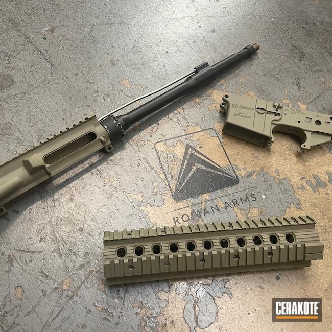 Cerakoted: S.H.O.T,Rifle,MK4,Barrel,Upper / Lower / Handguard,.223,CMMG,5.56,HAZEL GREEN H-204,AR15 Builders Kit,Modern Sporting Rifle,AR-15,CMMG Inc